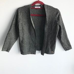 🎀 Calvin Klein Grey Black Pattern Short Cardigan